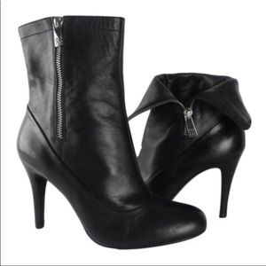 COACH New Black Leather Bethie Bootie Heels